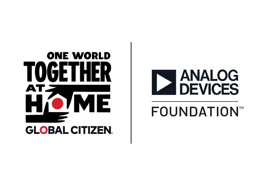 """Analog Devices sostiene l'evento """"One World: Together At Home"""""""