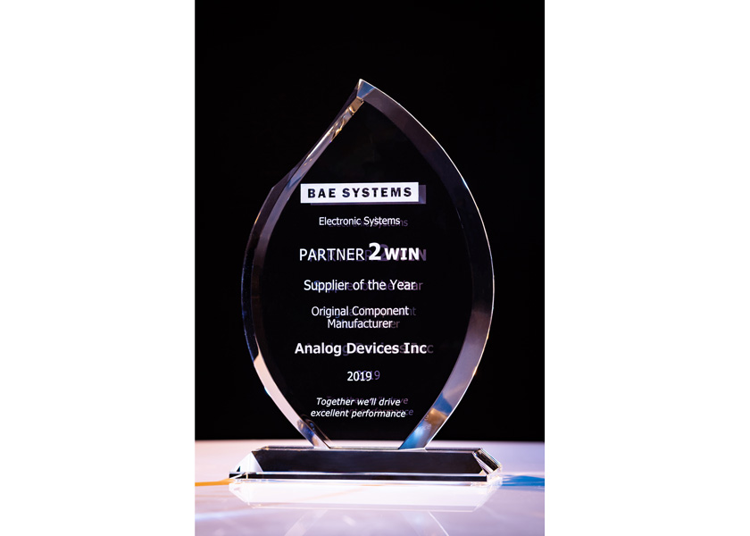 BAE Systems conferisce ad Analog Devices il Premio Supplier of the Year